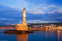Chania Venetian Lighthouse- Island Crete, Greece