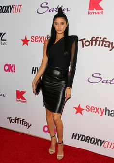 Nicole Williams attends the OK! Magazine's Annual Pre-Oscar Event on February 2017 in Los Angeles, California Sexy Skirt, Dress Skirt, The Ok, Glamour, Beautiful Women Pictures, Celebs, Celebrities, Leather Skirt, Women Wear