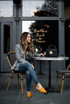 Plaid Blazer and Denim Jeans #styleblogger #TTD #classic #style
