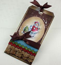 christmas tag.....layers