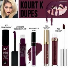 Dupes for kylie lip kit - KOURT K !!