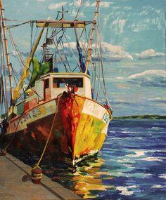 pinturas al oleo - Buscar con Google Oil Painting Pictures, Pictures To Paint, Boat Painting, Painting & Drawing, Pinterest Pinturas, Muse Kunst, Kairo, Boat Art, Muse Art