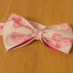 Pink Butterfly Breast Cancer Awareness Bow Tie