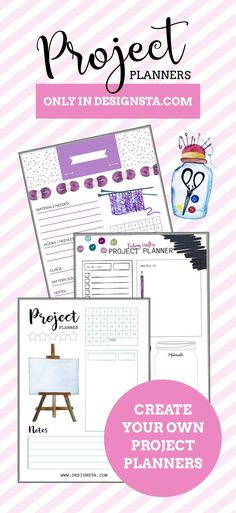 ATTENTION to all #crafters out there! #Create your own #project #planners quick and easily using #Designsta. If you are a #knitter , #jeweller , #ceramics maker , #textiles lover, #artist / #painter or you love to #sew then why not make a planner to keep track of all of your #craft projects and make note of your #weekly #goals and achievements. Designsta is an #online #design #tool for making #graphics without needing any design #skills.