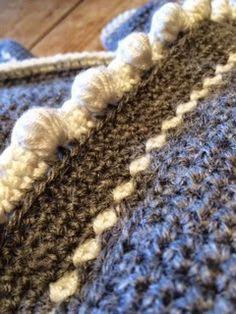 Bobble crochet border Just Pootling