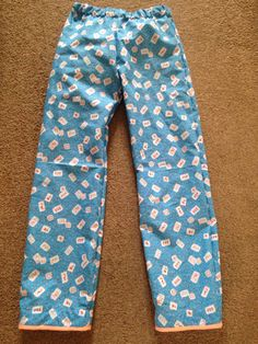 Another pair easy pj pants in age 10 for esme. French seams and binding.