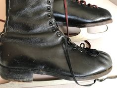 ICE Skates Black Leather Size 7 EVEREST Trade Mark Sheffield Steel Made in  England by BROCANTEBedStuy on Etsy. BROCANTE BedStuy · Vintage Winter Gear 5203a018ae12