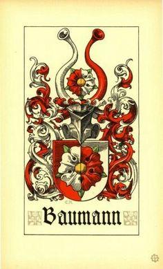 Wappen - Familienwappen der Baumann / Baumann Family Coat of Arms / Armas de la Familia Baumann