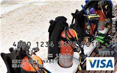 Scuba Gear Visa Gift Card Custom Gift Cards, Scuba Gear, Visa Gift Card, Deep Blue, Underwater, Diving, Boyfriend, Fun, Gifts