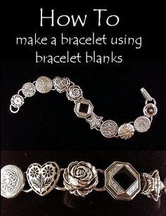 DIY How to make a bracelet out of vintage earrings with bracelet blanks for bridesmaids