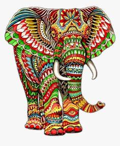 Elephant Artwork, Elephant Quilt, Giraffe Art, Mandala Art, Mandala Drawing, African Art Paintings, Animal Paintings, Paintings Of Elephants, Elephant Colour