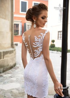 Look para Casamento Civil - Psiu Noiva Courthouse Wedding Dress, Civil Wedding Dresses, Dream Wedding Dresses, Bridal Dresses, Wedding Gowns, Prom Dresses, Formal Dresses, Simple Sexy Wedding Dresses, Tea Length Wedding Dress