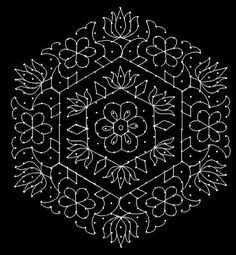 kolam with dots Best Rangoli Design, Simple Rangoli Designs Images, Rangoli Designs Flower, Rangoli Border Designs, Small Rangoli Design, Rangoli Patterns, Rangoli Ideas, Rangoli Designs With Dots, Rangoli With Dots