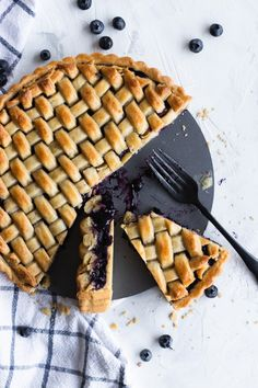 This Blueberry Tart recipe features a lightly sweet pastry crust bursting with a blueberry filling with a hint of lemon.