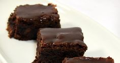 Inspired By eRecipeCards: SUPER MOIST Fudgy TRIPLE Chocolate Brownies with Chocolate Fudge Glaze - Church PotLuck Dessert