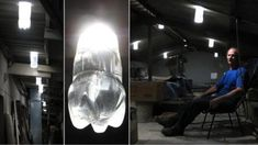 With just a plastic bottle, water, and bleach, Alfredo Moser has found a way to produce a light that is up to 40 or 60 watts—stronger than some light bulbs. Bleach Bottle, Divine Light, Bottle Lights, Light Project, How To Get Rich, Simple House, Light Up, Bulb, In This Moment