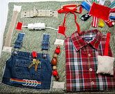 Masculine style Overals and Plaid shirt Fidget, Sensory, Activity Quilt Blanket Masculine style Overals and Plaid shirt Fidget, Sensory, Activity Quilt Blanket by TotallySewn on Etsy Mat Man, Senior Activities, Easter Activities, Outdoor Activities, Green Plaid Shirt, Dressy Casual Outfits, Fidget Quilt, Man Quilt, Masculine Style