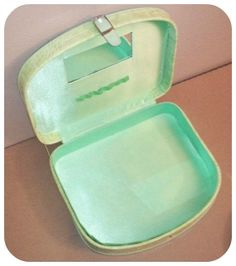 Vintage Green Faux Crocodile Accessory Case by SparkleSet on Etsy, $17.00