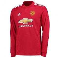 86e194c23 17-18 Manchester United Long Sleeve Home Soccer Jersey Shirt   manchesterunited  manu