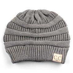 CC Beanie All Season Cable Knit Beanie in Light Grey