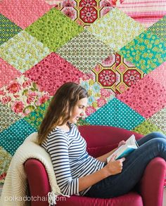 Diamond Quilt pattern- made entirely from Fat Quarters!