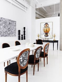 Black Living Room Chairs How To Decorate Long Wall In 263 Best Dining Images Design Graphic Photo Gallery Artful Homes House Home Angus