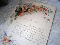 Sweet letter on pretty paper
