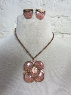 50s Copper and Gold Stone Starburt and Leaf by BranchOutShop, $46.00