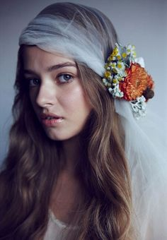 Bohemian alternative wedding accessories hair styling ideas