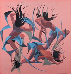 Loving my research paper on Oscar Howe.  My favorite piece by him, Calisthentic Dance.