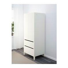 IKEA - NORDLI, Garderobeskab, , Døre og skuffer lukker langsomt, lydløst og blødt, fordi de er monteret med integrerede dæmpere.Du får et praktisk sted at hænge tasker, badekåbe og tilbehør på de 2 flytbare kroge på siden af garderobeskabet.Gi'r et varmt og sammenhængende udseende, når du åbner dørene, fordi hylder og skuffer er beklædt med dekorativ bøgetræsfiner.Indstillelige fødder gør det muligt at afhjælpe ujævnheder i gulvet.
