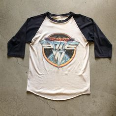 """79' Van Halen Raglan Tee $125+$8(shipping) domestic. Size Medium (25""""x18""""). Contact the shop at 415- 796-2398 to purchase by phone or PayPal afterlifeboutique@gmail and reference item in post."""