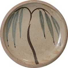 Leach Pottery willow tree plate probably decorated by Bernard Leach