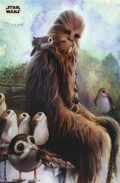 Star Wars - Episode VIII- The Last Jedi- Wookiee & Porg Poster