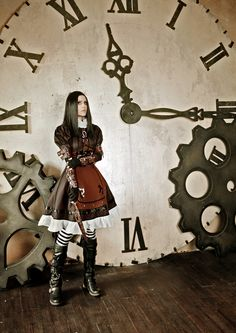 Steampunk American McGee's Alice. This is my favourite of her costumes - from level two: Hatter's Domain.