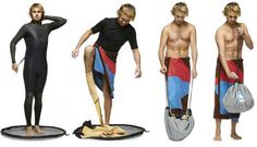 Change out of your wetsuit without tracking sand everywhere.