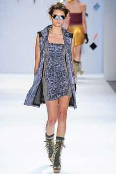 Custo Barcelona, love how the runway reflects in the sunglasses