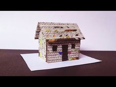 Bird House Kits Make Great Bird Houses 3d Paper Crafts, Newspaper Crafts, Fun Crafts, Diy And Crafts, Newspaper Bags, Traditional Birdhouses, Home Decor Vases, Magazine Crafts, Bird House Kits