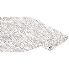 Baumwollstoff Vintage-Schrift, natur/braun