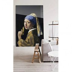 Cuadros y fotografías de gran formato, acierto seguro. Girl With Pearl Earring, High Ceiling Living Room, Co Working, Decoration, Art Pieces, Gallery Wall, Design Inspiration, Hand Painted, Wall Art