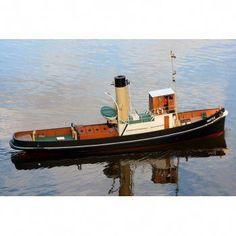 1933 Steam Tug Wattle - Tug - Plans - Model Boats - My Hobby Store Wooden Speed Boats, Wood Boats, The Parking Spot Hobby, Hobby Lobby Christmas, Boat Kits, Rc Hobbies, Jon Boat, Remote Control Cars, Small Boats