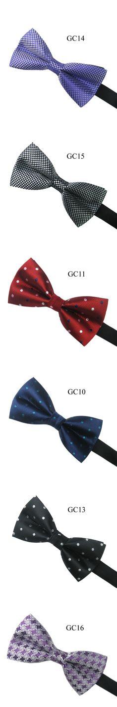 Men's Vintage Pre Tied Knit Bow Tie Clip On Jacquard Woven Necktie Ties 13 Colors New Arrival