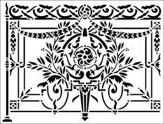 Railing No 1 stencil from The Stencil Library ARCHITECTURE range. Buy stencils online. Stencil code AR53.