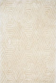 Caspia Ivory Area Rug - Loloi x Justina Blakeney-Fall for comfort with the Caspia Collection, a series of polyester shag rugs designed by Justina Blakeney for Loloi. Hand-tufted by artisans in China, the Caspia will take you to great dept Wit And Delight, Justina Blakeney, Hand Tufted Rugs, Indoor Rugs, Small Rugs, Rug Size, Living Room Decor, Living Area, Area Rugs
