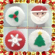 Cupcakes Navidad!...#cupcakes #ponquesitos #ponquesitosdecorados #ponquesitosnavidad #christmascupcakes #talentovenezolano