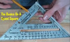 A speed square is an extremely useful carpenter's tool that is used to make basic measurements and mark lines on lumber. It may be called a square but it's really more of a triangle. Regardless, this tool can also act as a saw guide to make short 45 and 90 degree cuts. The 1st video …