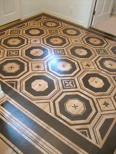 Stenciled Floors Design, Pictures, Remodel, Decor and Ideas