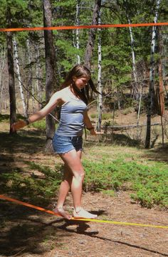 Walk the Line with a 50-Ft. Slackline Set — Tightrope Practice That Is Super Fun