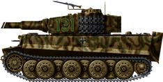 PanzerVI Tiger Ausf E, Tiger Ausf. E late production with metallic wheels, Hungary, early 1945.