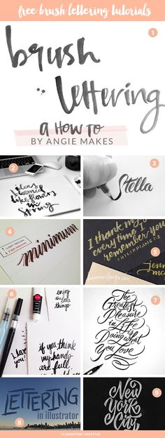 free brush lettering tutorials